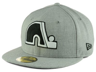 Quebec Nordiques New Era NHL Heather Gray Black White 59FIFTY Cap