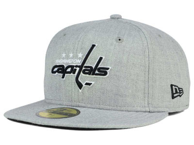 Washington Capitals New Era NHL Heather Gray Black White 59FIFTY Cap
