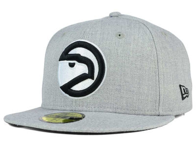 Atlanta Hawks New Era NBA HWC Heather Black White 59FIFTY Cap