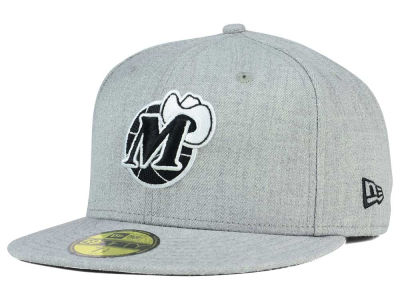 Dallas Mavericks New Era NBA HWC Heather Black White 59FIFTY Cap