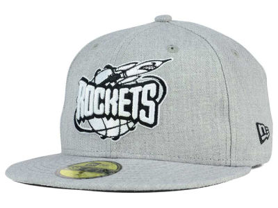 Houston Rockets New Era NBA HWC Heather Black White 59FIFTY Cap