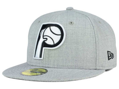 Indiana Pacers New Era NBA HWC Heather Black White 59FIFTY Cap