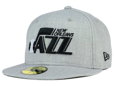 New Orleans Jazz New Era NBA HWC Heather Black White 59FIFTY Cap