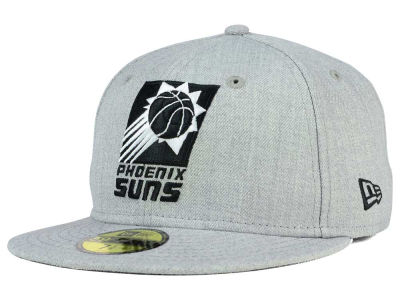 Phoenix Suns New Era NBA HWC Heather Black White 59FIFTY Cap