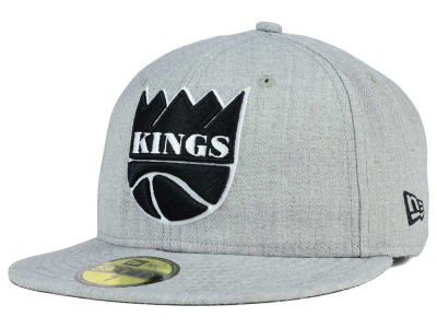 Chapeau noir du blanc 59FIFTY de NBA HWC Heather