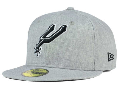 San Antonio Spurs New Era NBA HWC Heather Black White 59FIFTY Cap