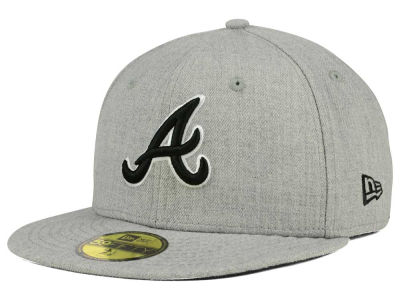 Atlanta Braves New Era MLB Heather Black White 59FIFTY Cap