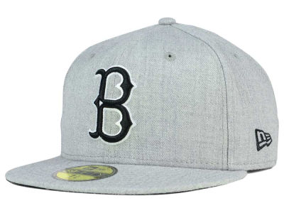Brooklyn Dodgers New Era MLB Heather Black White 59FIFTY Cap