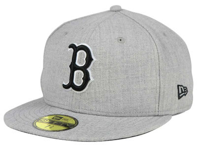 Boston Red Sox New Era MLB Heather Black White 59FIFTY Cap