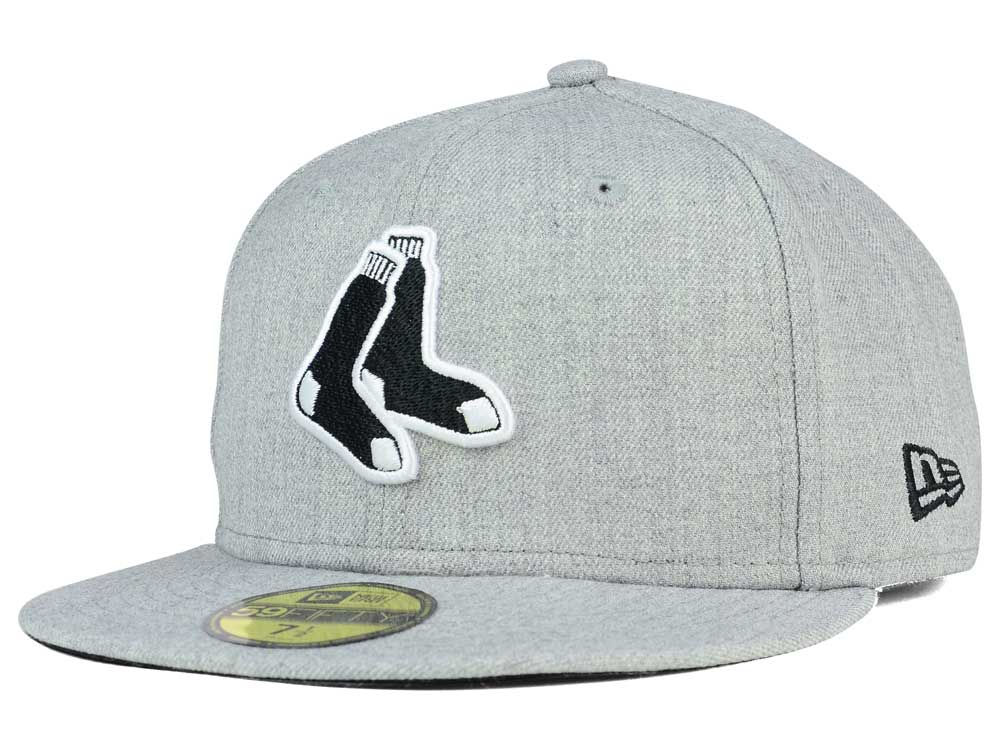 best sneakers 7a69a 55687 Boston Red Sox New Era MLB Heather Black White 59FIFTY Cap   lids.com
