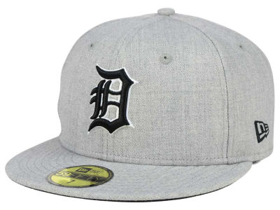 Detroit Tigers New Era MLB Heather Black White 59FIFTY Cap