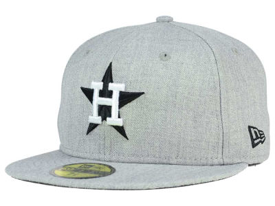 Houston Astros New Era MLB Heather Black White 59FIFTY Cap