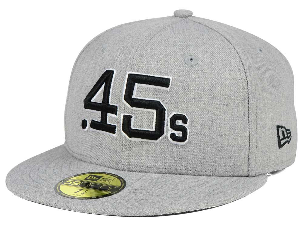 dedd4a7f497c1 ... authentic houston colt 45s new era mlb heather black white 59fifty cap  50727 02a8f