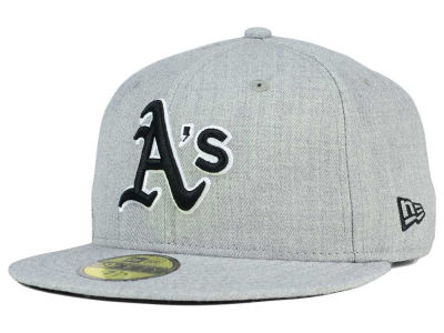 Oakland Athletics New Era MLB Heather Black White 59FIFTY Cap