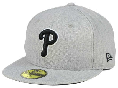 Philadelphia Phillies New Era MLB Heather Black White 59FIFTY Cap