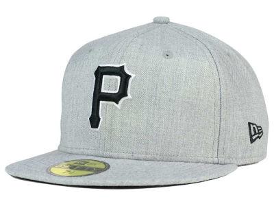 Pittsburgh Pirates New Era MLB Heather Black White 59FIFTY Cap