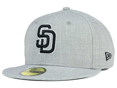 San Diego Padres New Era MLB Heather Black White 59FIFTY Cap