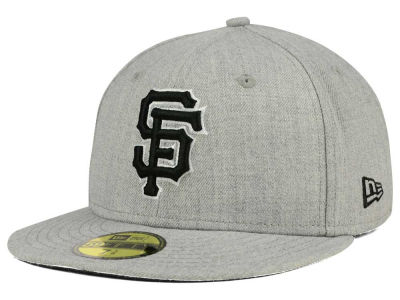 San Francisco Giants New Era MLB Heather Black White 59FIFTY Cap
