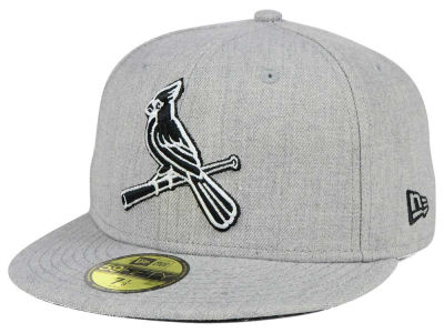 St. Louis Cardinals New Era MLB Heather Black White 59FIFTY Cap