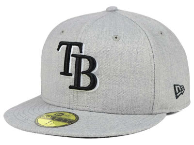 Tampa Bay Rays New Era MLB Heather Black White 59FIFTY Cap