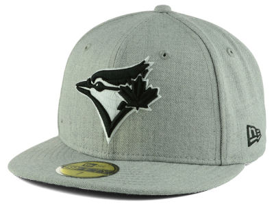 Toronto Blue Jays New Era MLB Heather Black White 59FIFTY Cap