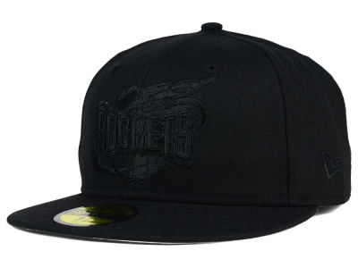 Houston Rockets New Era NBA HWC Black on Black 59FIFTY Cap