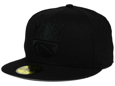 Sacramento Kings New Era NBA HWC Black on Black 59FIFTY Cap