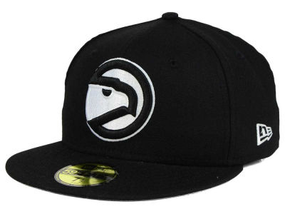 Atlanta Hawks New Era NBA HWC Black White 59FIFTY Cap