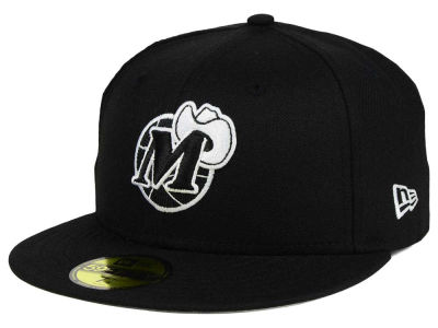 Dallas Mavericks New Era NBA HWC Black White 59FIFTY Cap