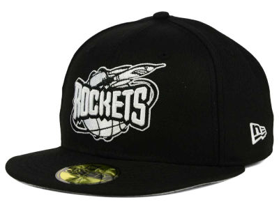 Houston Rockets New Era NBA HWC Black White 59FIFTY Cap
