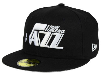 New Orleans Jazz New Era NBA HWC Black White 59FIFTY Cap