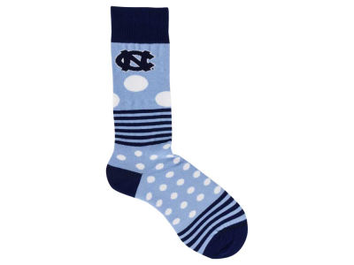 North Carolina Tar Heels Dots and Stripes Sock