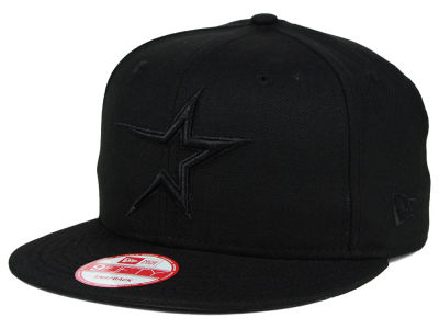 Houston Astros New Era MLB Black on Black 9FIFTY Snapback Cap