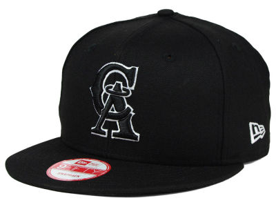 Los Angeles Angels New Era MLB Black White 9FIFTY Snapback Cap