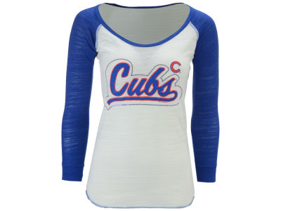Chicago Cubs MLB Womens Baseball Raglan T-Shirt