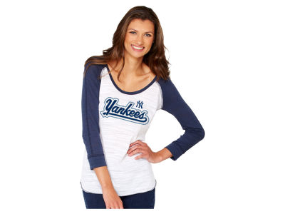 New York Yankees MLB Womens Baseball Raglan T-Shirt