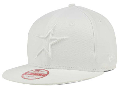 Houston Astros New Era MLB White on White 9FIFTY Snapback Cap