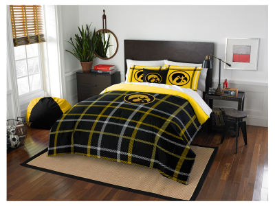 Iowa Hawkeyes Full Comforter Plaid Set