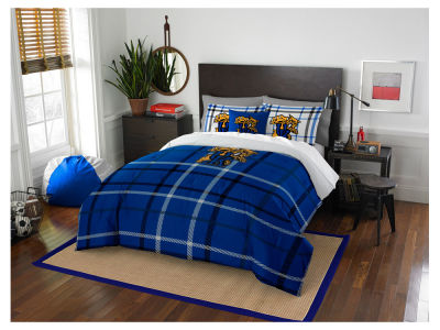 Kentucky Wildcats Full Comforter Plaid Set