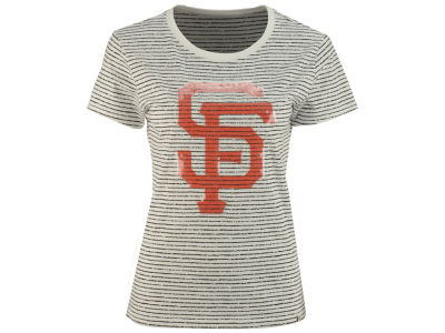 San Francisco Giants '47 MLB Women's Sparkle Stripe T-Shirt