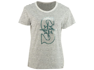 Seattle Mariners MLB Women's Sparkle Stripe T-Shirt