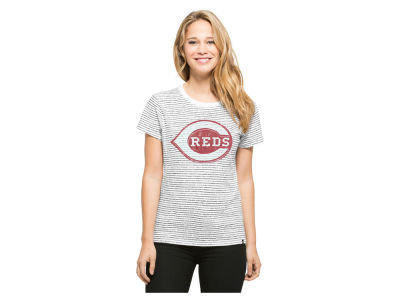 Cincinnati Reds '47 MLB Women's Sparkle Stripe T-Shirt