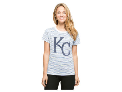 Kansas City Royals MLB Women's Sparkle Stripe T-Shirt