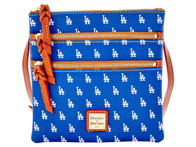 Los Angeles Dodgers Dooney & Bourke Triple Zip Crossbody Bag