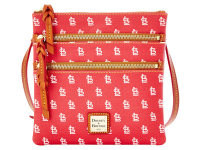 St. Louis Cardinals Dooney & Bourke Triple Zip Crossbody Bag