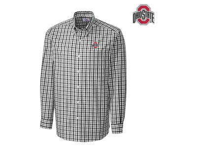 Cutter & Buck NCAA Men's Epic Grant Plaid Button Up Shirt