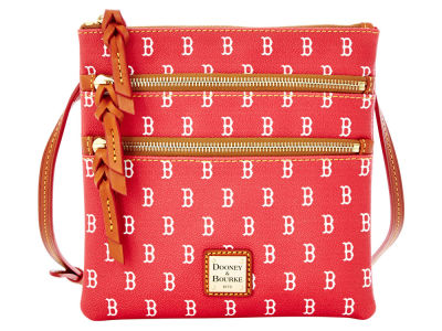 Boston Red Sox Dooney & Bourke Triple Zip Crossbody Bag