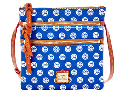 Chicago Cubs Dooney & Bourke Triple Zip Crossbody Bag