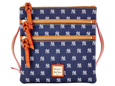 New York Yankees Dooney & Bourke Triple Zip Crossbody Bag