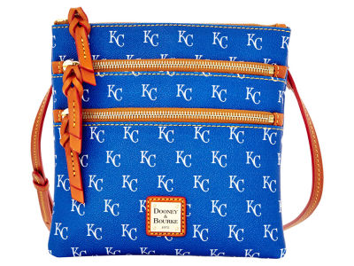 Kansas City Royals Dooney & Bourke Triple Zip Crossbody Bag
